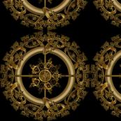 golden filigree design