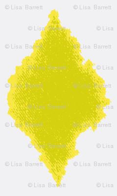 Ink blot Ikat lemongrass