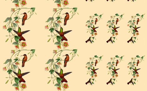 Hummingbirds large - old nature drawings by Gould fabric by thecumulusfactory on Spoonflower - custom fabric
