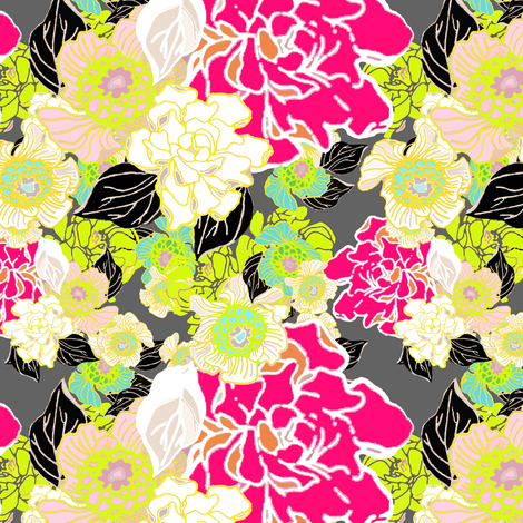 Jungle Passion Brite extra large for Lieke fabric by joanmclemore on Spoonflower - custom fabric