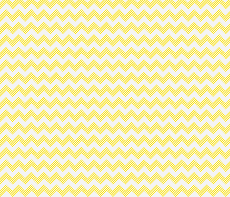 zipzag yellow wht fabric by dsa_designs on Spoonflower - custom fabric