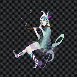 Flute Enchantee Elf Fabric