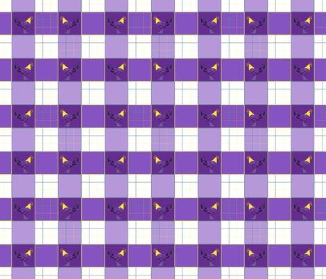 Chicken_Pop_Plaid_6x6 fabric by paulin_studio on Spoonflower - custom fabric