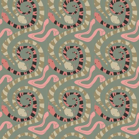 Snakes fabric by dani_tea on Spoonflower - custom fabric
