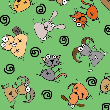 Animals love trees! fabric by joojoostrees on Spoonflower - custom fabric