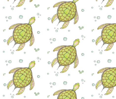 Turtle Garden fabric by artthatmoves on Spoonflower - custom fabric