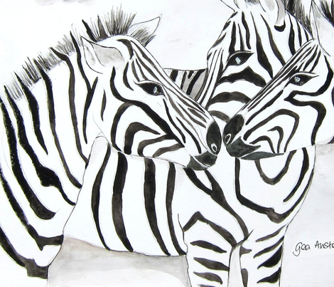 zebras_12_by_geaausten-d60r4f8_t fabric by geaausten on Spoonflower - custom fabric