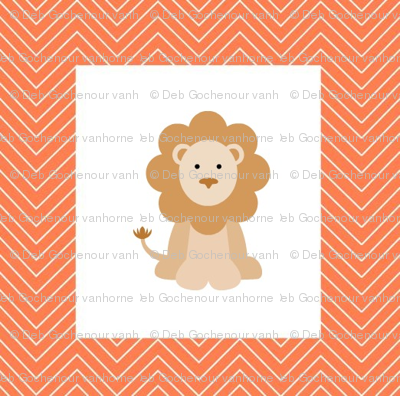 chevron_lion mini cheater quilt