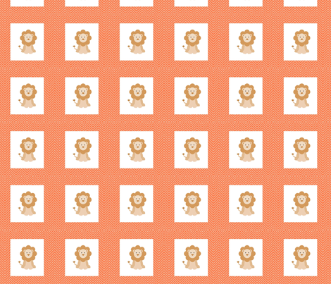 chevron_lion mini cheater quilt fabric by dsa_designs on Spoonflower - custom fabric