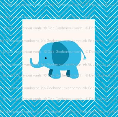chevron_elephant mini cheater  quilt
