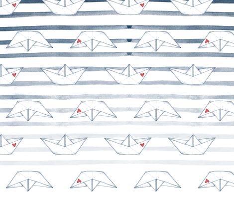 stripes_and_love_boats fabric by ariari on Spoonflower - custom fabric