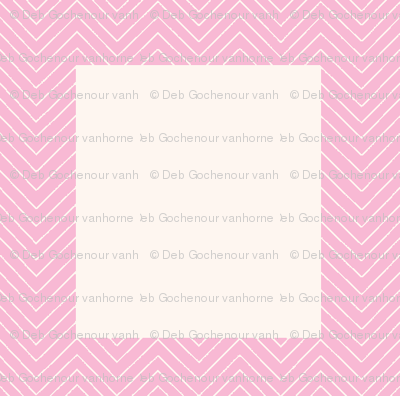 chevron_pink mini cheater quilt