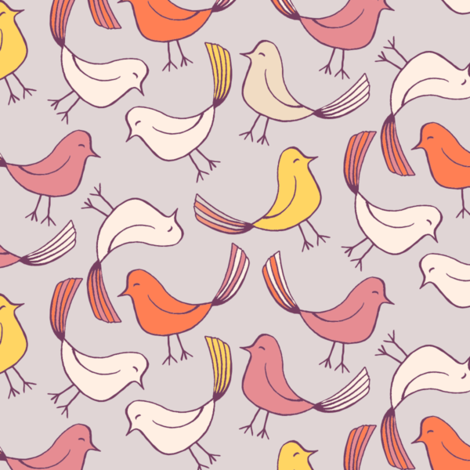 Little birdies fabric by kezia on Spoonflower - custom fabric
