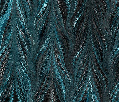 AquaBlack-Icarus fabric by modernmarbling on Spoonflower - custom fabric