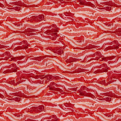 Bacon fabric by sufficiency on Spoonflower - custom fabric