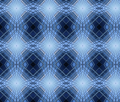 Blue Reflections fabric by mikep on Spoonflower - custom fabric