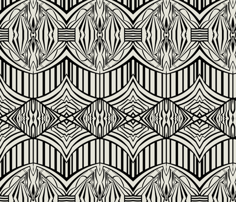 Graphic in Black and Beige fabric by jennamhairi on Spoonflower - custom fabric