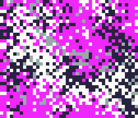 Latvian Digital Hot Pink Camo fabric by ricraynor on Spoonflower - custom fabric