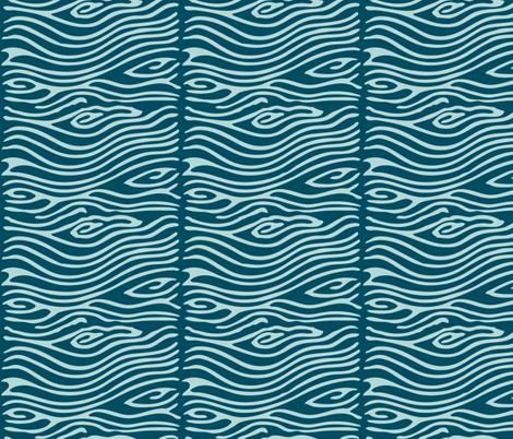 Water pattern - vector - seafoam175 dkblue195 fabric by mina on Spoonflower - custom fabric