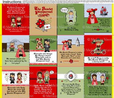 Little Scarlet Pimpernel Cloth Fabric Book