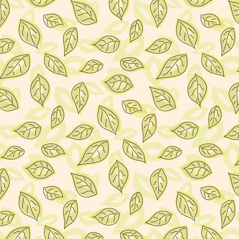 Jungle Leaves fabric by katrinazerilli on Spoonflower - custom fabric