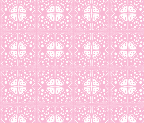 Pink Lacey Hearts fabric by sewbiznes on Spoonflower - custom fabric