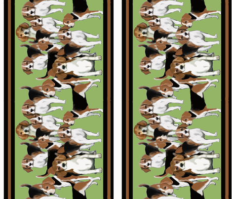 beagles_for_wallpaper border fabric by dogdaze_ on Spoonflower - custom fabric