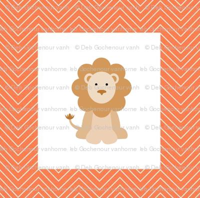 chevron_lion cheater quilt