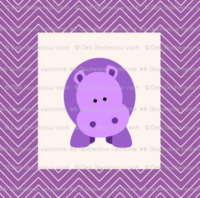 chevron_hippo cheater quilt