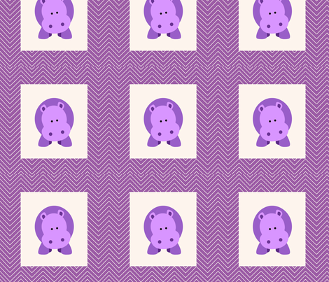 chevron_hippo cheater quilt fabric by dsa_designs on Spoonflower - custom fabric
