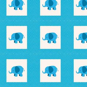 chevron_elephant cheater quilt