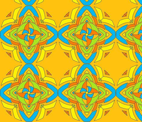 pinwheel kaleidoscope fabric by dsa_designs on Spoonflower - custom fabric