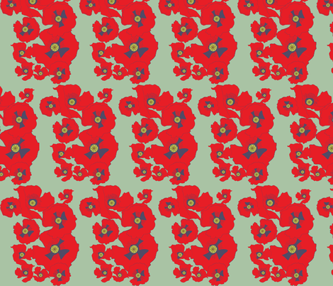 poppyrepeat fabric by snap-dragon on Spoonflower - custom fabric