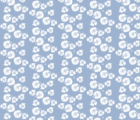 poppiesblue fabric by snap-dragon on Spoonflower - custom fabric