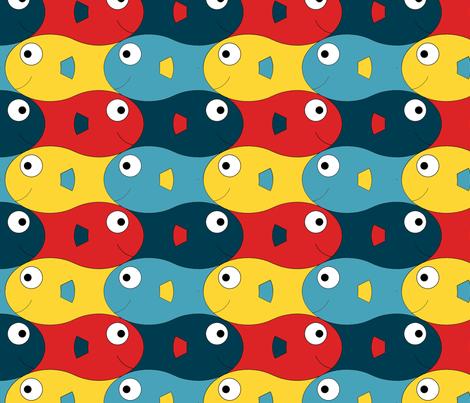 happyfish fabric by gmstrawn on Spoonflower - custom fabric
