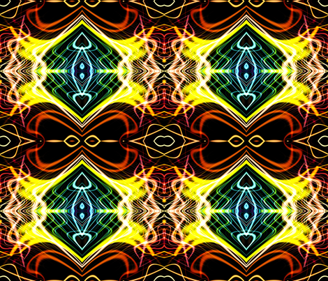 Neon_Pinstripes1_A_X fabric by k_shaynejacobson on Spoonflower - custom fabric