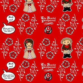Little Scarlet Pimpenel fabric