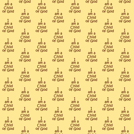 child of God brown fabric by wolfishie on Spoonflower - custom fabric