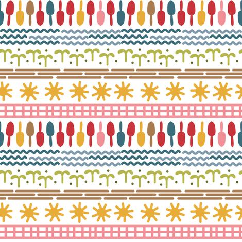Modern Garden Stripe fabric by dianne_annelli on Spoonflower - custom fabric