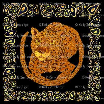 Jaguar Spot Framed_on_Black