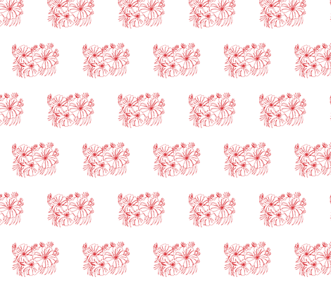 flowergrpoutline fabric by snap-dragon on Spoonflower - custom fabric
