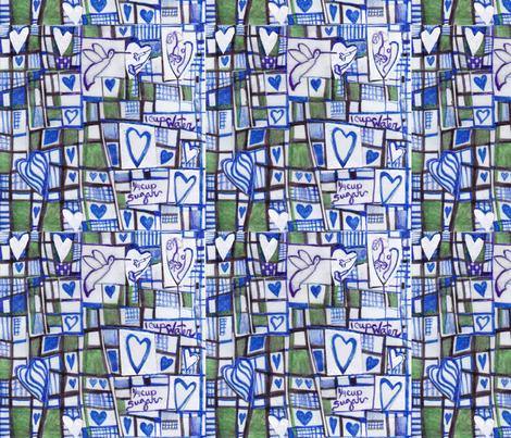 Humming bird fabric by vickiejofranks on Spoonflower - custom fabric