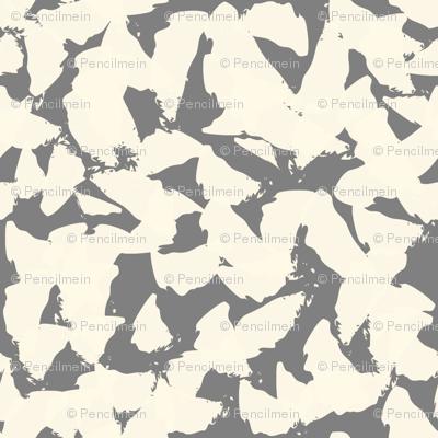 Tan bird wings on grey