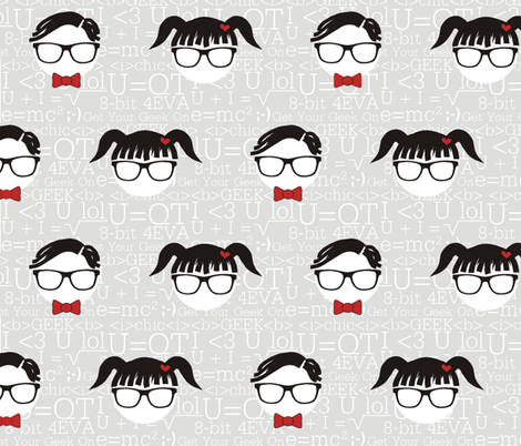 Get Your Geek On! fabric by smuk on Spoonflower - custom fabric