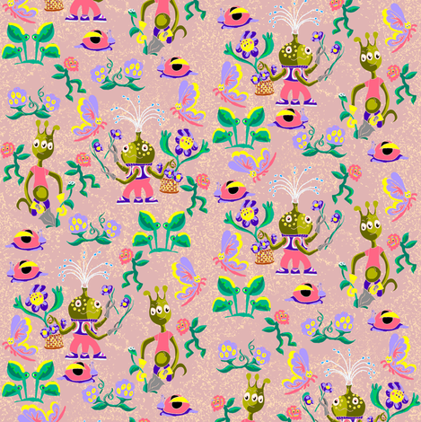 Green Thumbs fabric by eclectic_house on Spoonflower - custom fabric