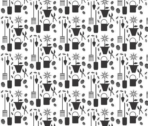 garden_tools fabric by kapreusser on Spoonflower - custom fabric