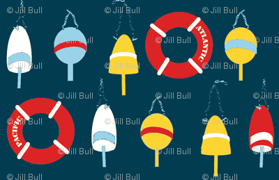Sailing Buoys ©2013 Jill Bull