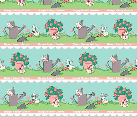 Happy Bunny Garden fabric by aimee on Spoonflower - custom fabric