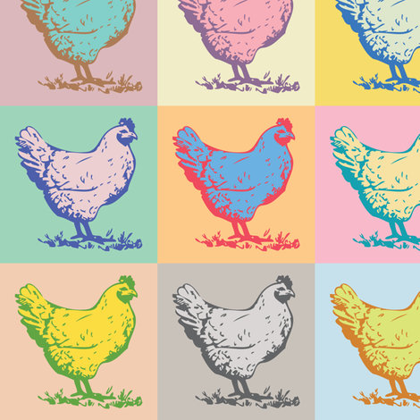 Pop Chicken fabric by melbrooks on Spoonflower - custom fabric