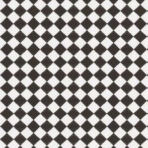 Devilcage Check - Black and White